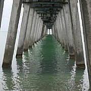 Venice Beach Pier Structure Poster