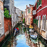 Venice Canal 4 Poster