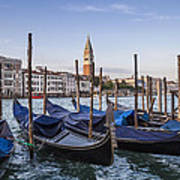 Venice Grand Canal And Goldolas Poster