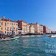 Venice Grand Canal View Italy Poster