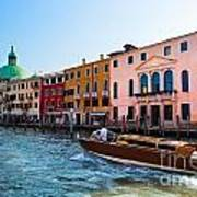 Venice Grand Canal View Italy Sunny Day Poster
