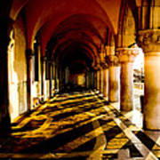 Venice Hallway In The Morning Poster