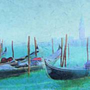 Venice Italy Gondolas With San Giorgio Maggiore Poster