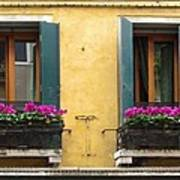 Venice Italy Teal Shutters Poster