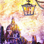 Venice Italy Watercolor Painting On Yupo Synthetic Paper Poster