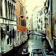 Venice Street Scene Poster