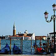 Venice View On Basilica Di San Giorgio Maggiore Poster