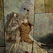 Venitian Carnival-bird In A Cage Poster