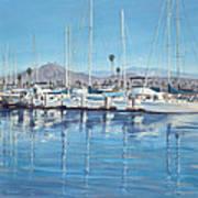 Ventura Harbor Morning Light Poster