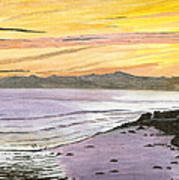 Ventura Point At Sunset Poster