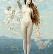 Venus Rising The Star Poster by Jean Leon Gerome