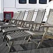 Verandah Seating 02 Queen Mary Ocean Liner Long Beach Ca Poster