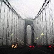 Verazanno Bridge Rain Photofresco Poster
