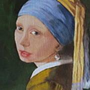 Vermeer Study Poster