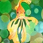 Vermilion Goldfish Poster