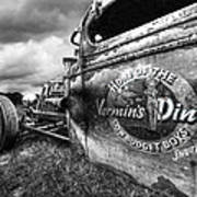 Vermin's Diner Rat Rod In Black And White Poster