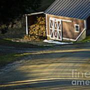 Vermont Maple Sugar Shack Sunset Poster by Edward Fielding