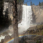 Vernal Falls With Rainbow Poster