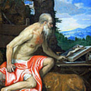 Veronese's Saint Jerome In The Wilderness Poster