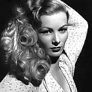 Veronica Lake Actress Poster