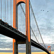 Verrazano Bridge At Sunrise - Verrazano Narrows Poster