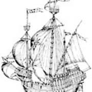 Verrazzano's Ship Poster