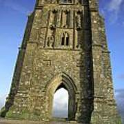 Vertical View Of Glastonbury Tor Poster