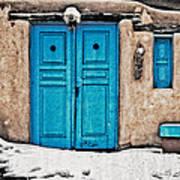 Very Blue Door Poster