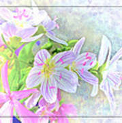 Very Tiny Wildflower Boquet Digital Paint Poster