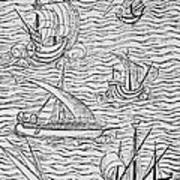 Vessels Of Early Spanish Navigators From The Narrative And Critical History Of American Poster