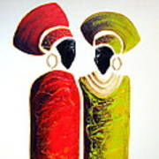 Vibrant Zulu Ladies - Original Artwork Poster