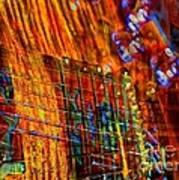 Vibrations Digital Guitar Art Bt Steven Langston Poster