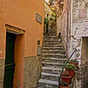 Vicolo Della Valle Riomaggiore Italy Dsc02537  Poster