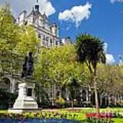 Victoria Embankment Gardens In London Uk Poster