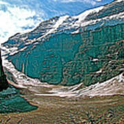 Victoria Glacier From Plain Of Six Glaciers In Banff Np-alberta Poster