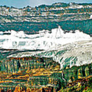 Victoria Glacier From Plain Of Six Glaciers Trail In Banff Np-ab Poster
