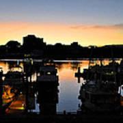 Victoria Harbor Sunset 3 Poster
