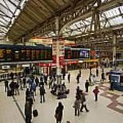 Victoria Railway Station London  Poster