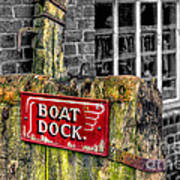 Victorian Boat Dock Sign Poster by Adrian Evans