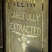 Victorian Dentist Sign Poster