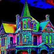 Victorian House Pop Art Poster