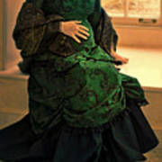 Victorian Lady Expecting A Baby Poster by Jill Battaglia