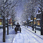 Victorian Snow Poster by Alecia Underhill
