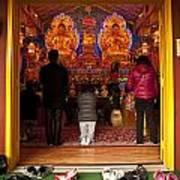 Vietnamese Temple Shrine Prayer Poster