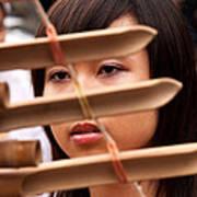 Vietnamese T'rung Player Poster