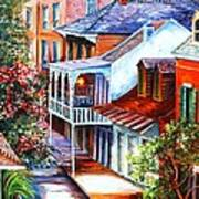 View From A Bourbon Street Balcony Poster