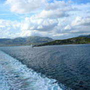 View From A Scottish Ferry Poster