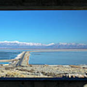 View From Antelope Island Poster