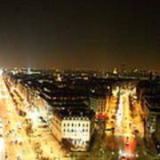 View From Arc De Triomphe - Paris France - 01138 Poster by DC Photographer