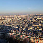 View From Basilica Of The Sacred Heart Of Paris - Sacre Coeur - Paris France - 011328 Poster by DC Photographer